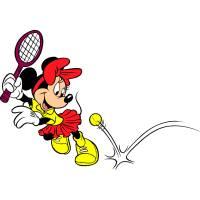 Disegno di Minnie e il Tennis a colori