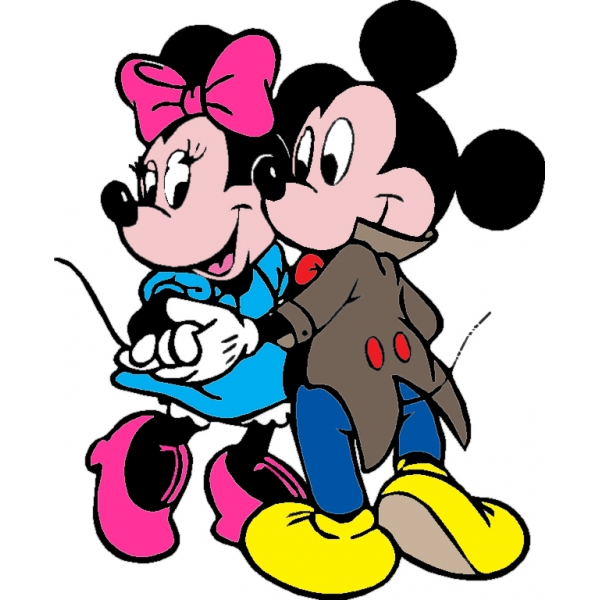 Disegno di minnie topolino il ballo a colori per bambini