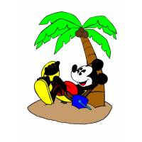 disegno di Topolino in Vacanza a colori