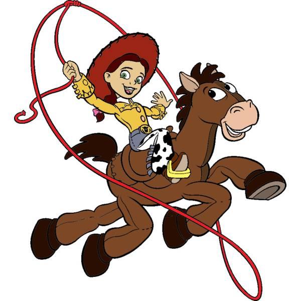 Disegno di jessie a cavallo a colori per bambini for Disegno cavallo per bambini