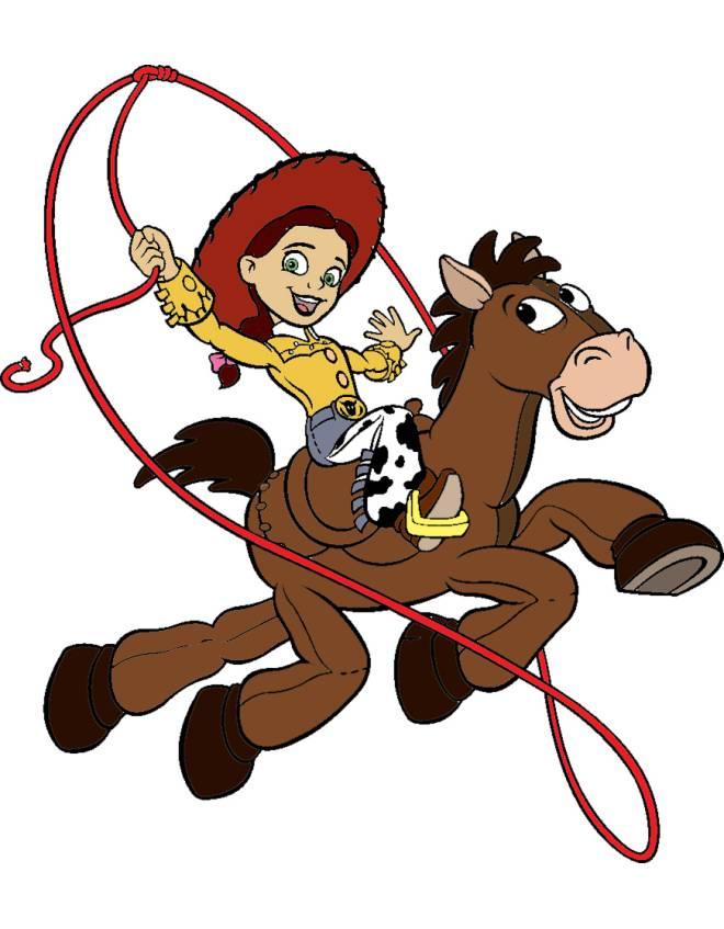 disegno di Jessie a  Cavallo a colori