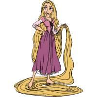 Disegno di Rapunzel Disney a colori