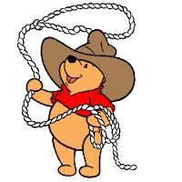 Disegno di Winnie Pooh Cowboy a colori