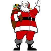 Disegno di Babbo Natale a colori