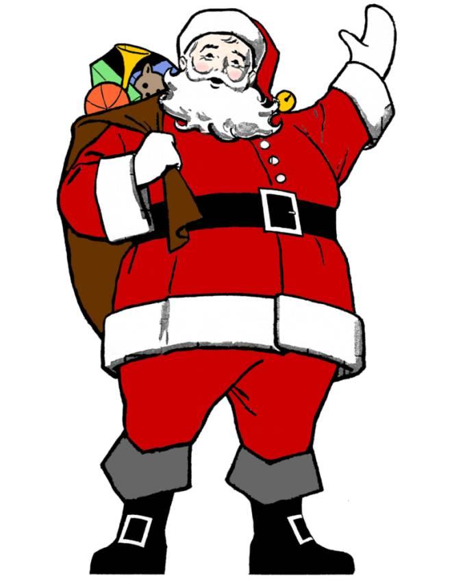 Immagini Colorate Di Babbo Natale.Disegno Di Babbo Natale A Colori Per Bambini Disegnidacolorareonline Com