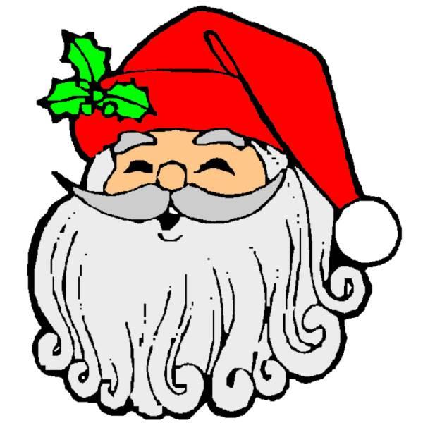Disegno di Babbo Natale Sorridente a colori