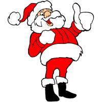 Disegno di Babbo Natale Felice a colori