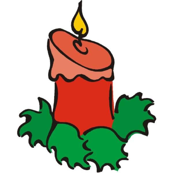 Disegno di candela natale a colori per bambini