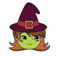 Disegno di Cappello di Halloween a colori