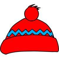 Disegno di Cappello Natalizio a colori