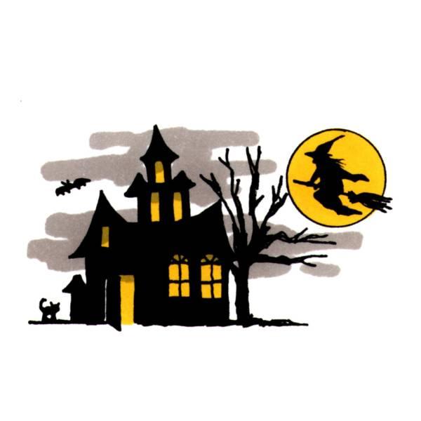 Disegno di Castello di Halloween a colori