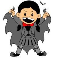 Disegno di Costume da Vampiro a colori