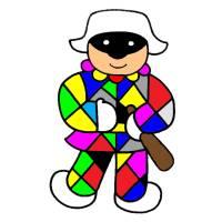 disegno di Arlecchino a colori