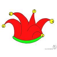 Disegno di Cappello Giullare con Campanellini a colori