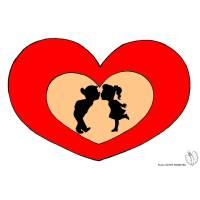 Disegno di Cuori San Valentino a colori