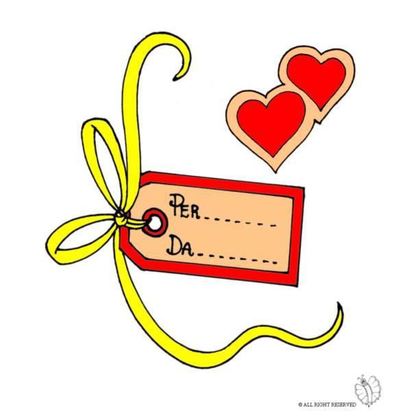 Disegno di Etichetta Nomi San Valentino a colori