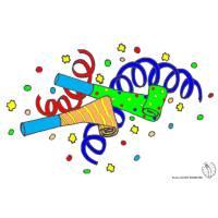 disegno di Festoni e Coriandoli  a colori
