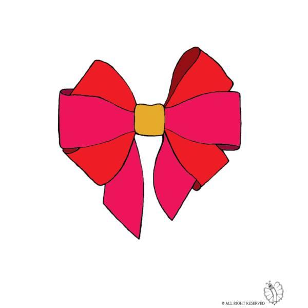 Disegno di Fiocco per Campana di Pasqua a colori