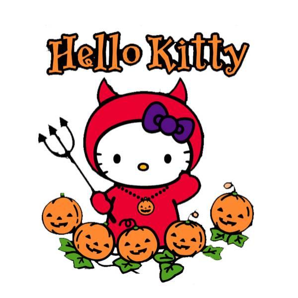 Disegno di Hello Kitty Halloween a colori