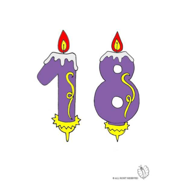Disegno di Diciotto Anni Candeline Compleanno a colori
