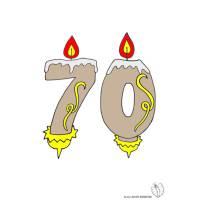 Disegno di Settanta Anni Candeline Compleanno a colori