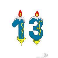 Disegno di Tredici Anni Candeline Compleanno a colori