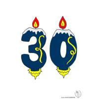 disegno di Trenta Anni Candeline Compleanno a colori