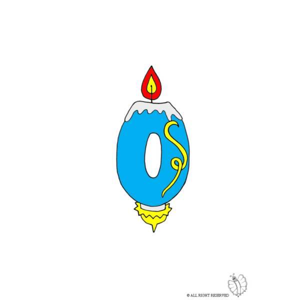 Disegno di Zero Numero Candeline Compleanno a colori