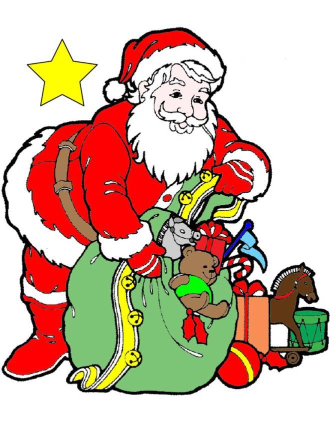 disegno di Regali di Babbo Natale a colori