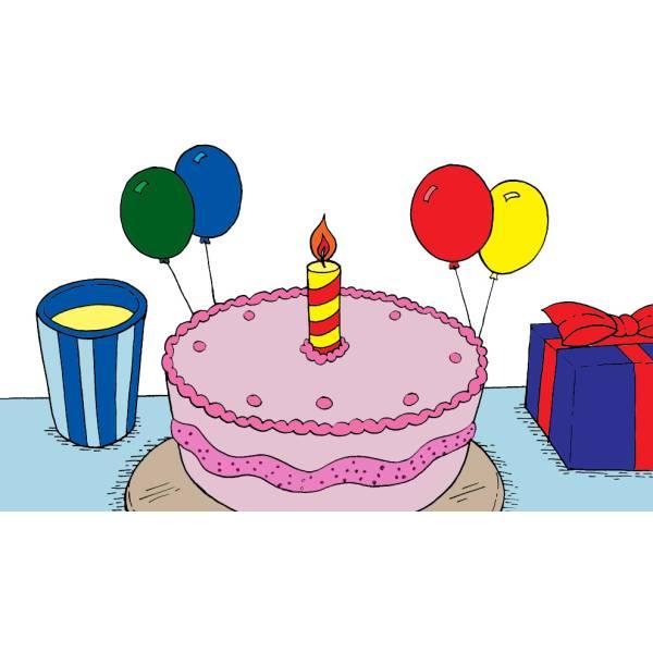Disegno di Torta Primo Compleanno a colori