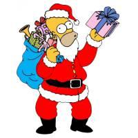 Disegno di Natale in Casa Simpson a colori