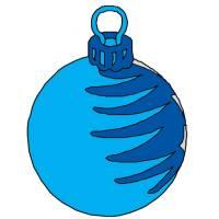 Disegno di Palla di Natale a colori