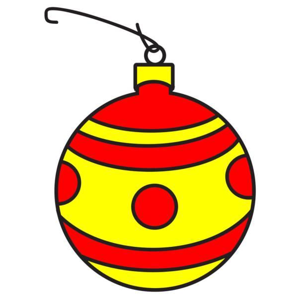 Disegno Di Pallina Di Natale A Colori Per Bambini
