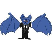 Disegno di Pipistrello Elegante a colori