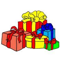 disegno di Regali di Natale a colori