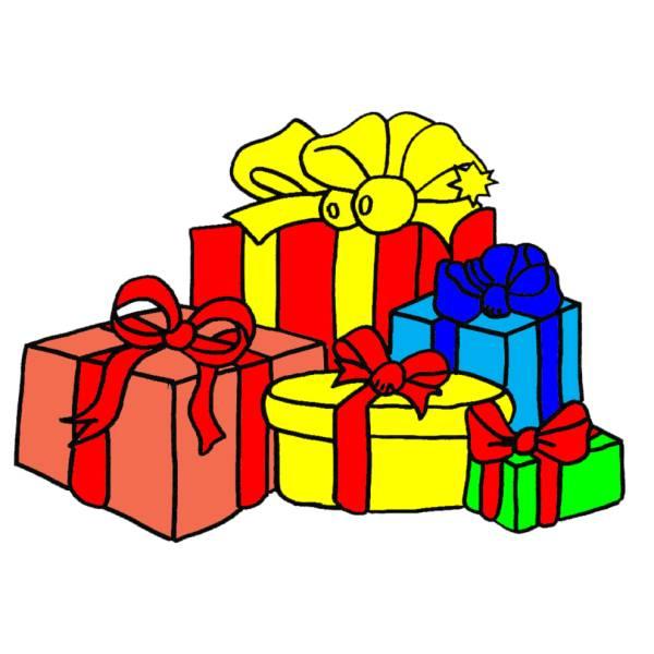 Disegni Di Natale Particolari.Disegno Di Regali Di Natale A Colori Per Bambini