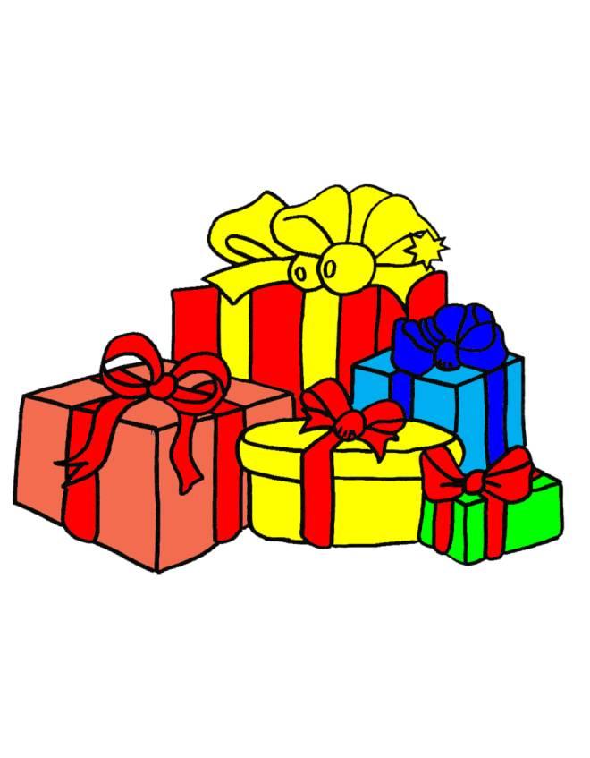 Disegno di regali di natale a colori per bambini for Regali di natali