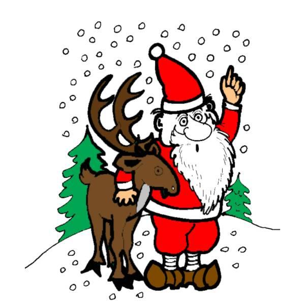 Disegni Di Natale Renne.Disegno Di Renna Di Natale A Colori Per Bambini