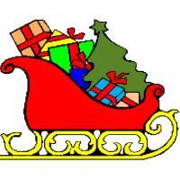 Disegno di Slitta di Natale a colori