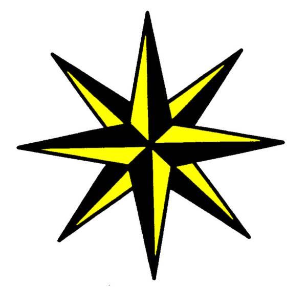 Disegno di Stella di Natale a colori