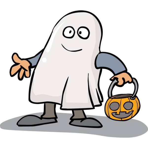 Disegno di Fantasma con la Zucca a colori