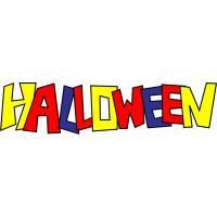 Disegno di Scritta Halloween a colori