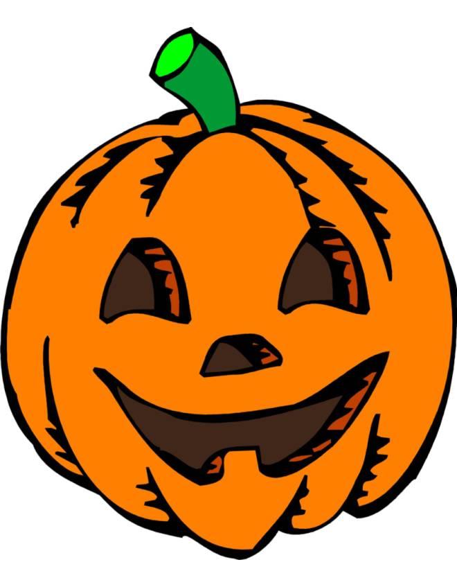 Disegno di zucca di halloween a colori per bambini - Immagini fantasma a colori ...