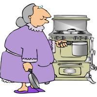 Disegno di Nonna in Cucina a colori