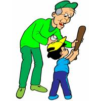 Disegno di Nonno e Nipotino a colori