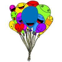 Disegno di Palloncini Divertenti a colori
