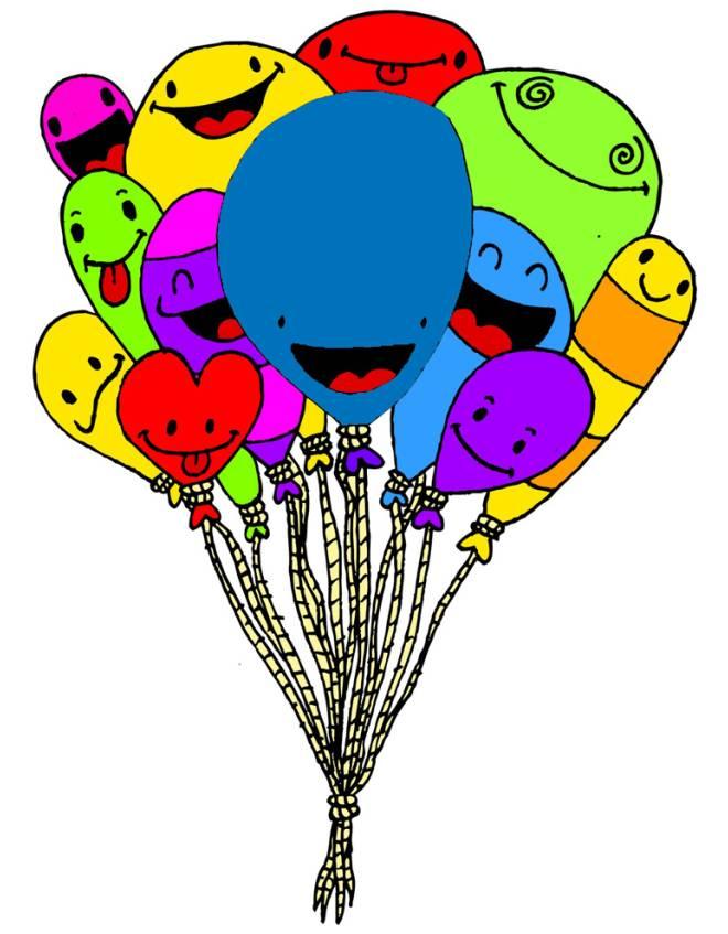 Disegno di palloncini divertenti a colori per bambini - Immagine con palloncini ...