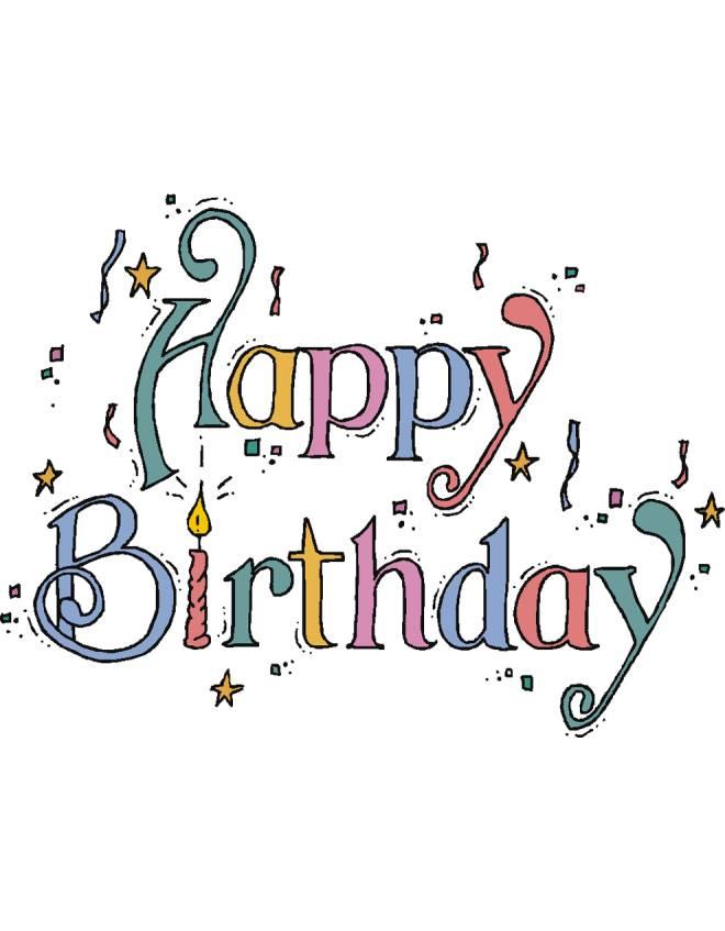 Top Disegno di Happy Birthday a colori per bambini  WB22