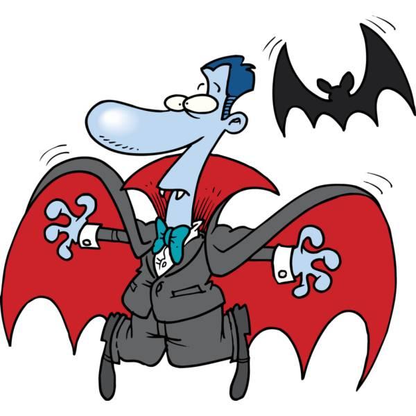 Disegno di Vampiro e Pipistrello a colori