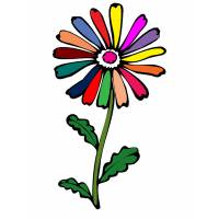 Disegno di Fiore Margherita a colori